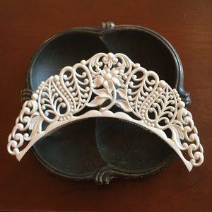 Vtg Plastic Flamenco Style Tiara Head Piece
